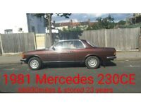 MERCEDES CLASSIC CAR 123CE COUPE STORED OVER 20YRS MORE DETAILS PL RING 07854395161 THANKS S. OFFER