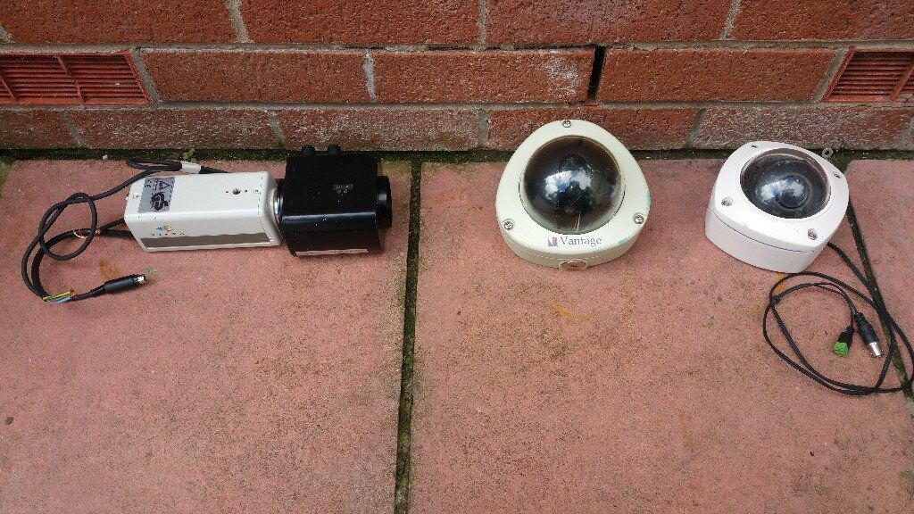 CCTV cameras in used condition!all 4 items 65£ can deliver or post!