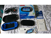 OLED PS Vita with 16gb memory card & hard case