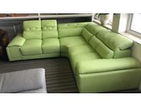 Designer corner leather sofa RRP 3000