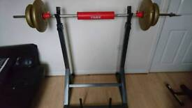 Heavy duty Barbell rack / holder squat support