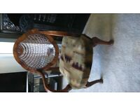 Two antique Queen Anne chairs