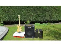 Markbass amp plus Mark Audio and Hartke speakers