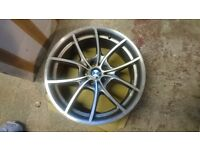"""Set of 4 Genuine BMW 5 Series F10/F11 20"""" Staggered Alloy Wheels (Style 356) - Spares or repair"""