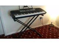 RockJam 54-Key Portable Digital Piano Keyboard with Interactive LCD Screen and Stand