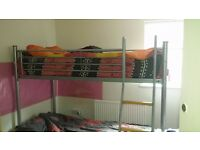 bunk bed and 2 mattresses in very good condition