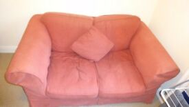 2 Seater Red Colored Sofa for Sale