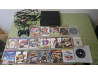 PS3 Slim 320Gb + 19 Games + 1 controller + cables