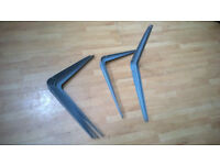 6 Steel Shelf Brackets 250 x 300mm