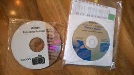 NIKON D3000 REFERENCE MANUAL & FUJIFILM FINEPIX S1500 OWNER'S MANUAL cds 2 pounds each , can post
