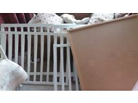 Baby Dan Wooden (white) playpen (with John Lewis play mat)