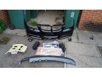 BMW E90 M SPORT FRONT BUMPER COMPLETE PRE FACE LIFT BLACK SAPPHIRE