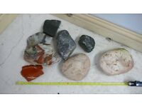 Collection of fish tank rocks decorative real aquatic aquarium (1)