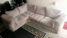 Large fabric corner couch