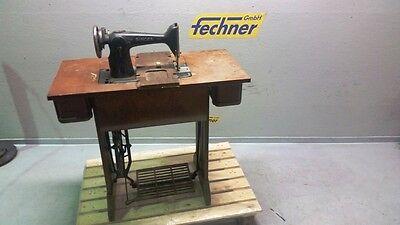 Standart Nähmaschine SINGER Holz Tisch schmiedeeisernes Metallgestell