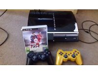 Ps3 40 gb with 2 controllers and fifa 16