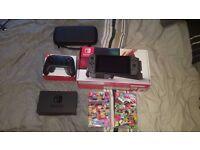 Nintendo Switch - Grey, Splatoon 2, Mario Kart, Pro Controller, Carry Case