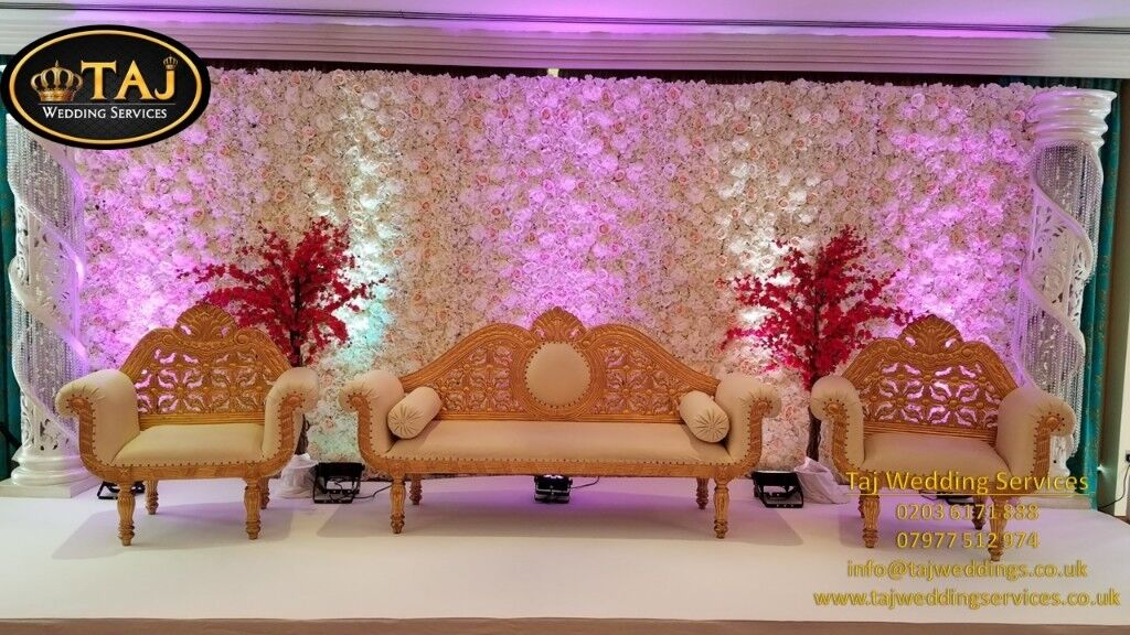 Asian Indian Wedding Mehndi Stages Backdrops Decor Chair Covers