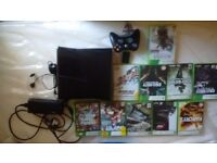 Xbox 360 Slim with all leads and controller and 20games