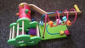Baby wooden toy bundle