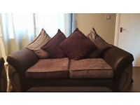 DFS Pillowback Sofa 4 Seater and 2 Seater
