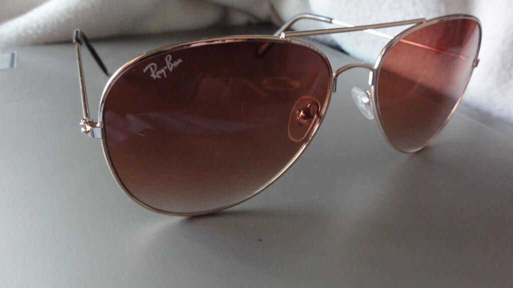 Genuine Ray Ban Rayban Aviator Gradient Mens Designer Sunglasses Gold Metal Rb 8888 1s 60 16 135 In Caerleon Newport Gumtree