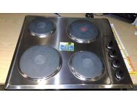 Whirlpool AKM330IX01 Built-In Solid Plate Hob, Stainless Steel hob