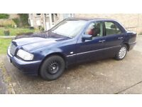 Mercedes C Class W reg 2000 Good Car, Low Miles, 91,000 Spares/Repairs £475 ovno
