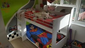 Julian Bowen amazing bunk beds, a year old, glow in the dark steps. Sale due to job re-location.