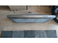 stainless steel 90cm extractor and splashback