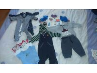 Baby boy clothes bundle 6-9,9-12 and 12-18 months