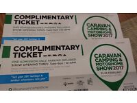 caravan and camping show tickets
