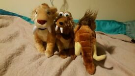Ice Age 2 The Meltdown soft toys plush: Manny Wooly Mammoth Scratt Squirrel Tiger Diego