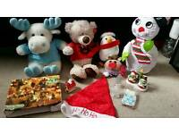 Christmas bundle joblot teddy ornament hat