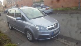 Vauxhall Zafira 1.9 CDTI 120 Life Diesel Manual 7 Seater 5 Door Hatchback 2006, 119000 miles. £1950