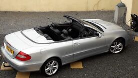 MERCEDES CLK 200K AVANTGARDE CONVERTIBLE AUTO ,HOT LEATHER 2006 LOW MILES, JUST SERVICED AND MOT`D,