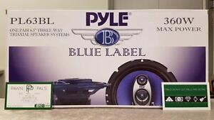 """6-1/2"""" Pyle 3-Way Coaxial Car Speakers"""