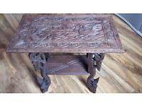 antique handmade table