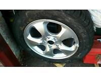 """16"""" Jaguar alloy wheels with very good tyres"""