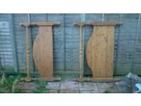 Free Hardwood bed headboard and footboard