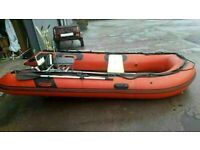 Prowave 3.8m Heavy Duty Inflatable Boat with Aluminium Deck