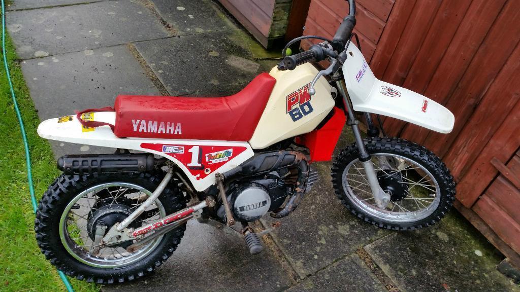 reduced bargain yamaha pw80 kids scrambler motor bike boys