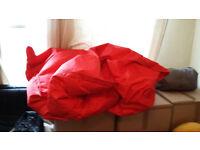 Massive red beanbag