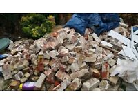 reclaimed bricks and rubble free to collect or can deliver if not too far