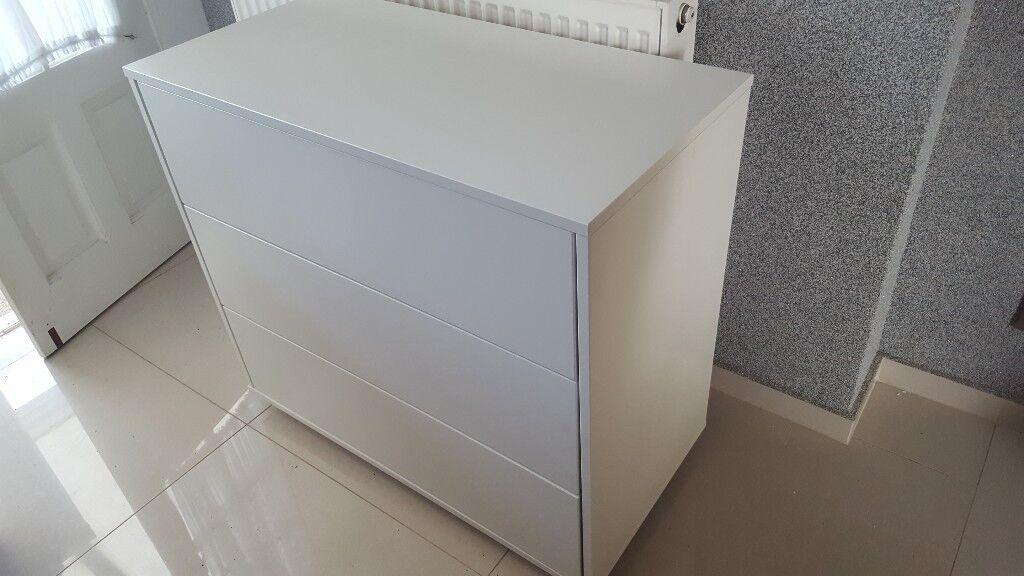 Stompa 3 drawer chest white