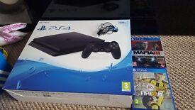 PS4 slim 500GB fifa17 Mafia3 deluxe edition