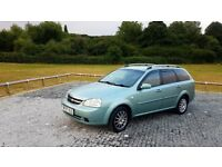 2007 Chevrolet Lacetti Estate 1.6 Petrol 4 Month M.O.T 5 speed Manual GREEN
