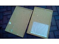 2 cork notice boards with pins
