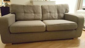Grey three seat sofa
