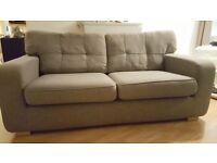Grey three seat sofa